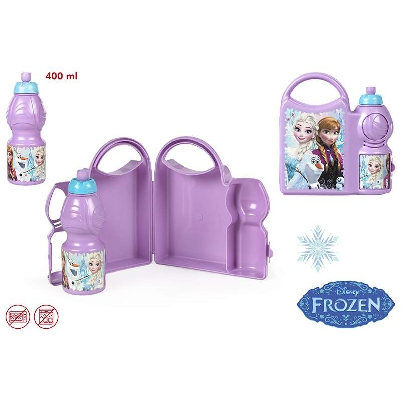 Svačinový Set Krabička A Láhev Na Pití 400 Ml Frozen / Ledové Království