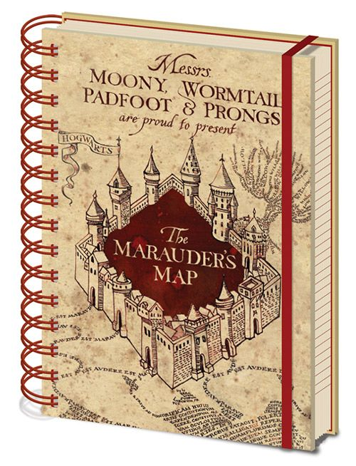BLOK / ZÁPISNÍK HARRY POTTER THE MARAUDERS MAP A5