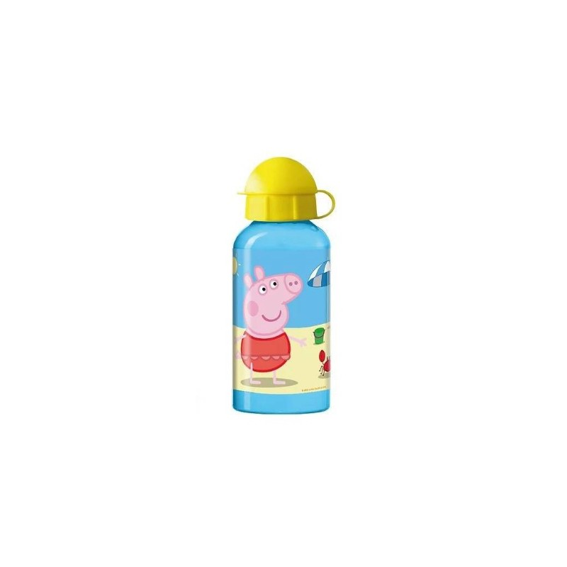 Dětská láhev na vodu s víčkem Prasátko Peppa 300 ml / vecizfilmu