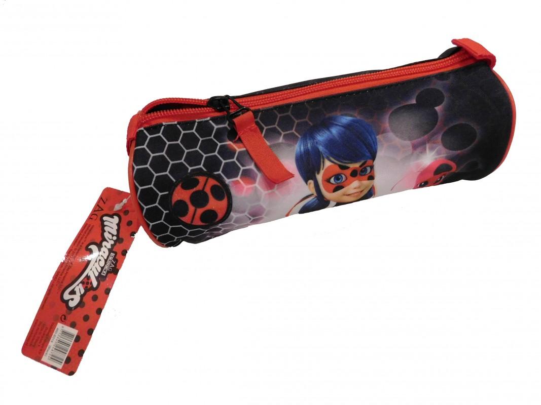 Dívčí kulatý penál Miraculous Ladybug / Zázračná Beruška 7 x 20 x 7 cm / vecizfilmu