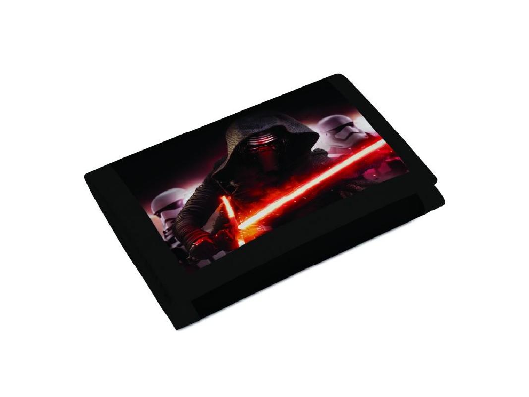 Rozkládací dětská peněženka Star Wars / Kylo Ren černo / červená lesk / vecizfilmu
