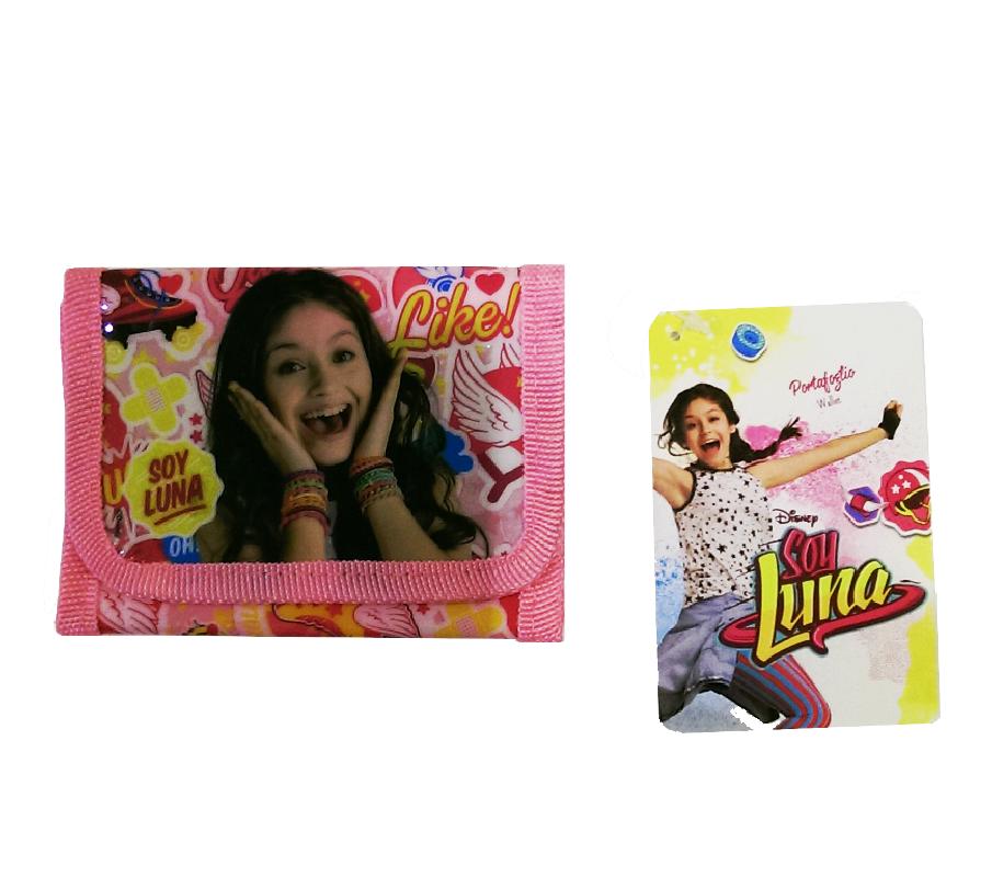 Rozkládací dívčí peněženka Soy Luna růžová / lesk 13 x 9 cm / vecizfilmu
