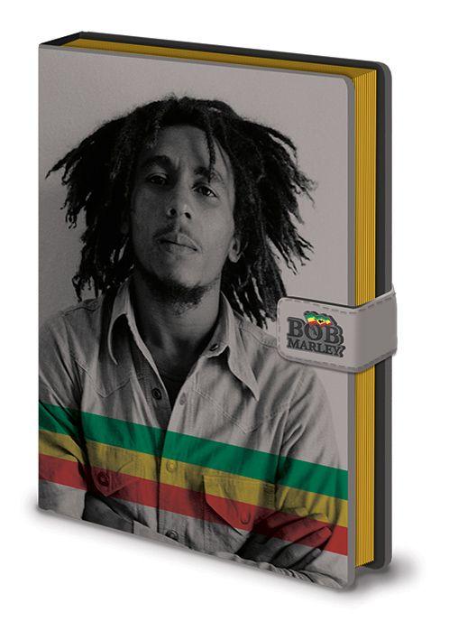 Notes / diář A5 s uzavíráním Bob Marley