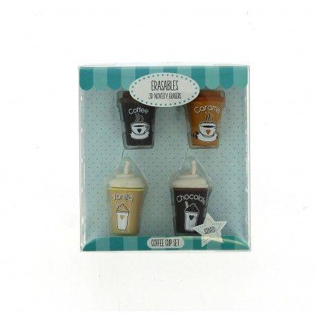 Dekorativní školní 3D gumy / Káva