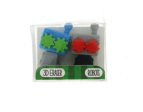 Školní gumy 3D / Roboti