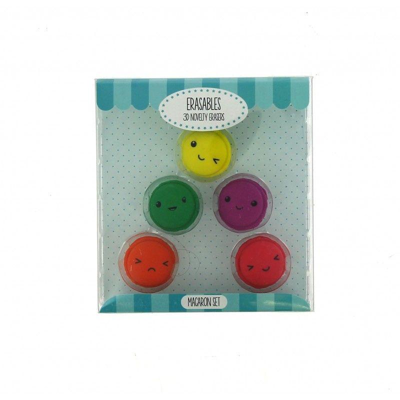 Dekorativní školní gumy / makronky