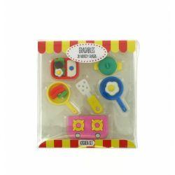 Dekorativní školní 3D gumy / Kuchyňský set