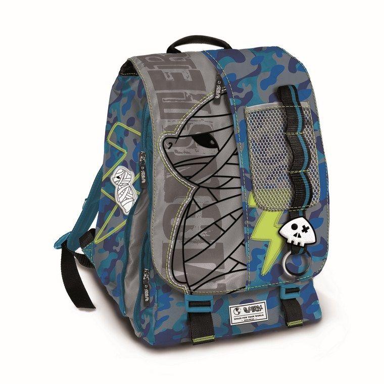 Chlapecký batoh modro šedý Spirit 42 x 30 cm