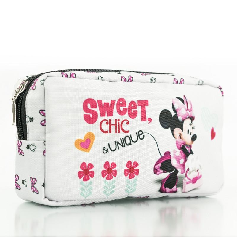 Kosmetická taštička na zip Minnie Mouse Sweet Chic 20 x 10 cm bílá