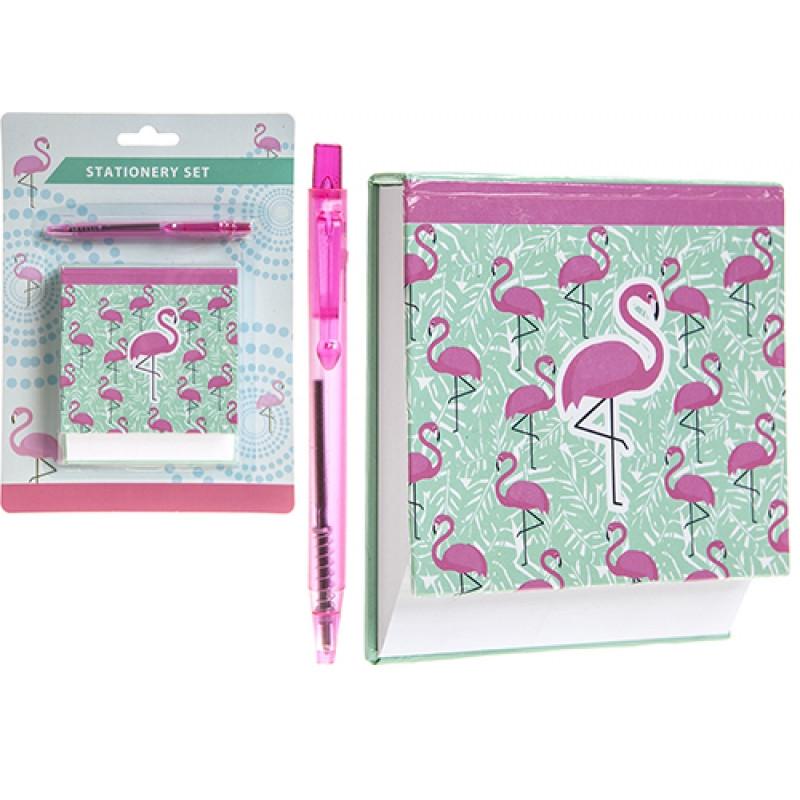 Diář s propiskou Plameňák / Flamingo