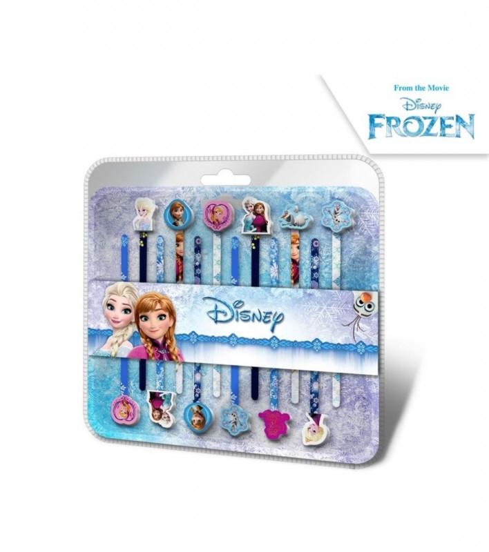 Tužky s dekorativní gumou Frozen / 12 kusů v balení / veci do skoly