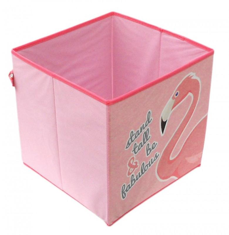 da2348052 Textilní Úložný box Plameňák / Flamingo / 31 x 31 x 31 cm / veci do