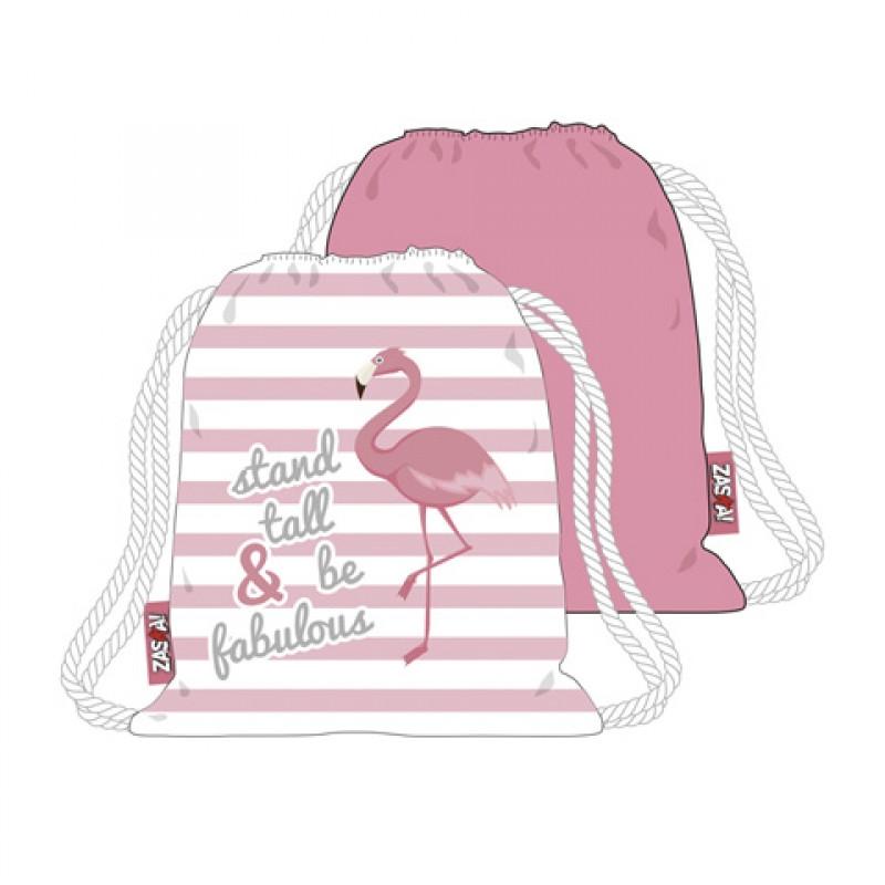 Gym Bag / Pytlík s motivem Plameňáka / Flamingo / 44,5 x 38 cm / veci do skoly