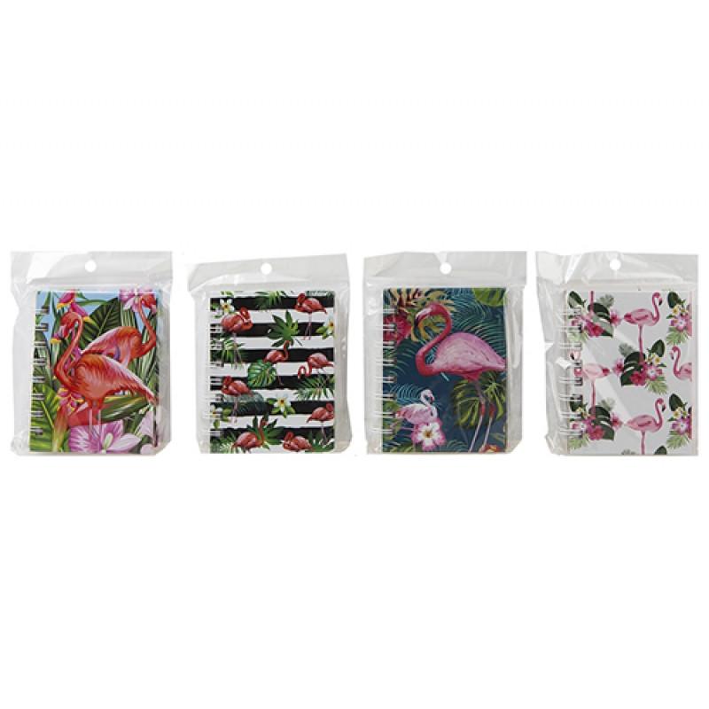 Deníček / Notes / Flamingo / Plameňák / 9,5 x 12 x 1,5 cm