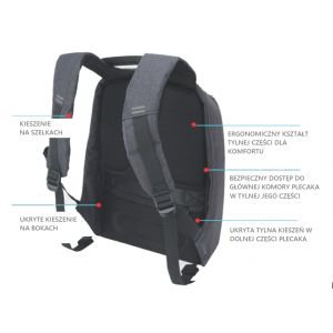 ... Dívčí školní bezpečný batoh proti krádeži Spirit 48 x 26 x 11 cm    vecidoskoly 689edd3bc3