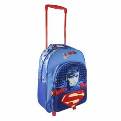 Chlapecký 3D batoh na kolečkách s rukojetí Superman 31 x 41 x 13 cm / vecidoskoly