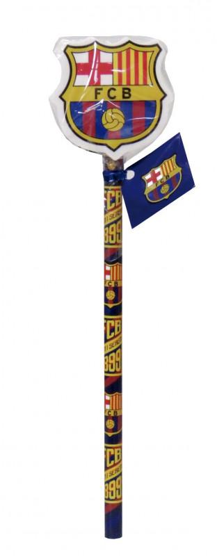 Tužka s tvarovanou gumou pro fanoušky FC Barcelona