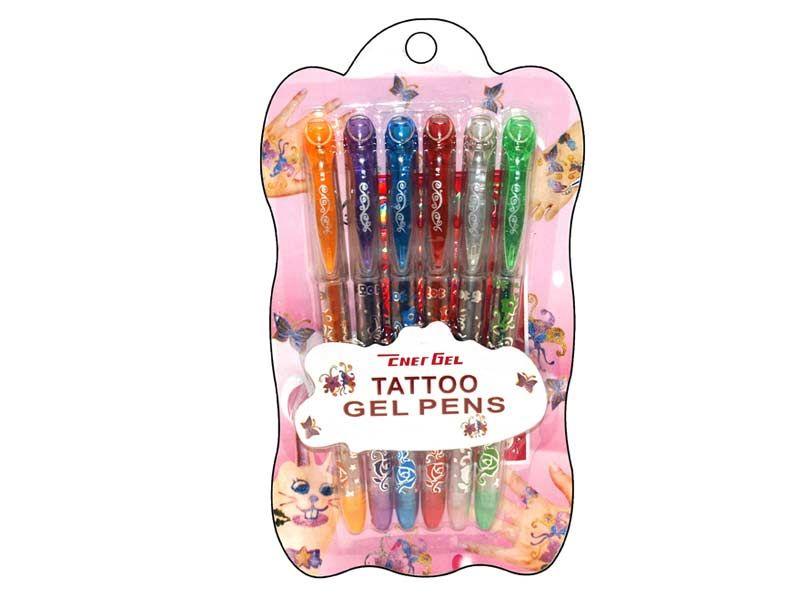Tetovací pera gelová 6ks