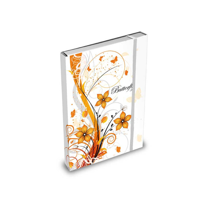 Desky na sešity květy / A5 / Květy / Veci do skoly