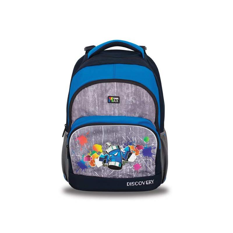 Batoh školní Neon Blue / 41 x 33 x 22 cm / veci do skoly