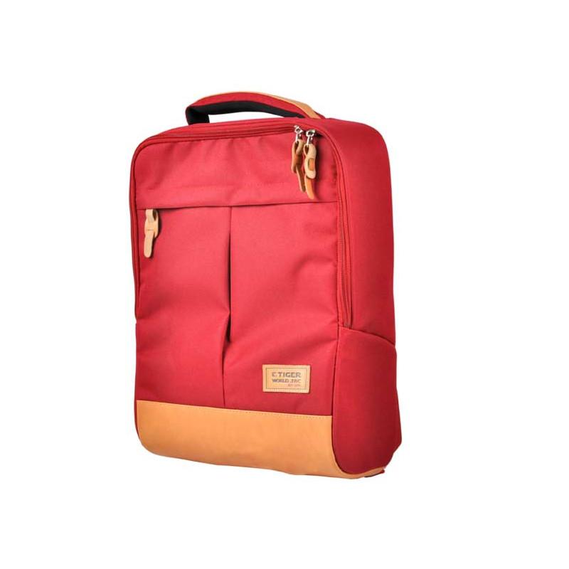 Batoh Cube Red / 43 x 29 x 14 cm / veci do skoly