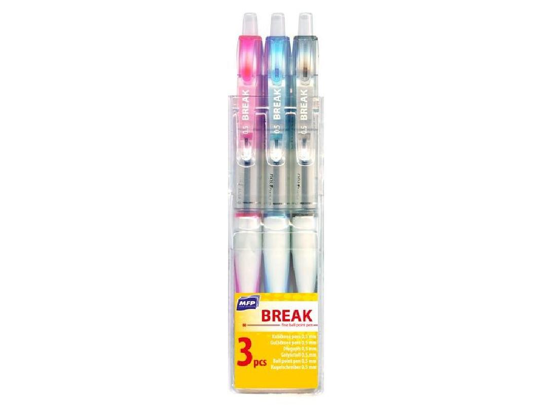 Kuličkové pero Break 3 ks v balení