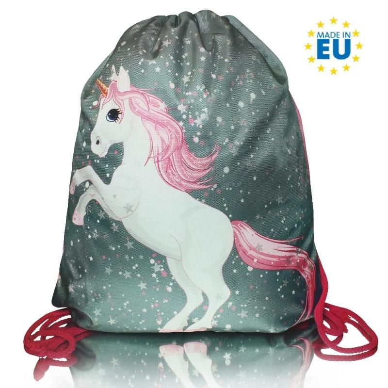 Taška / pytlík na přezůvky Unicorn / Jednorožec 40 x 30 cm