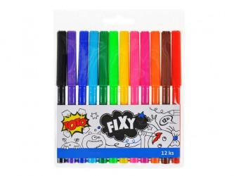 Fixy / 12 barev / veci do skoly