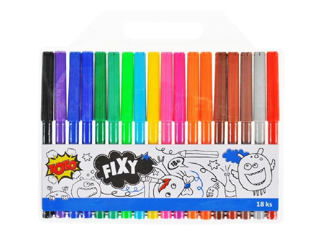 Fixy / 18 barev / veci do skoly