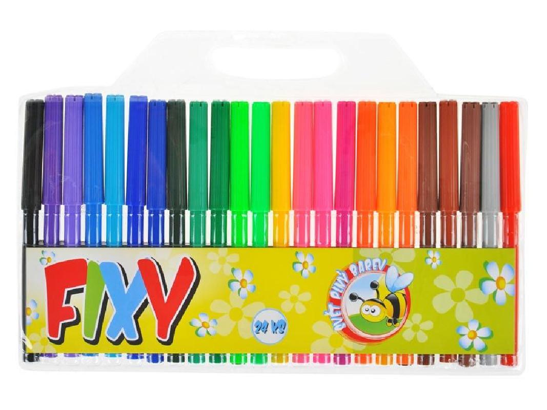 Fixy velké / 24 barev / veci do skoly