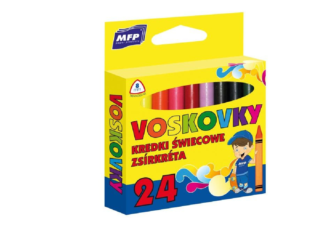 Voskovky 24 barev / trojhranné / veci do skoly