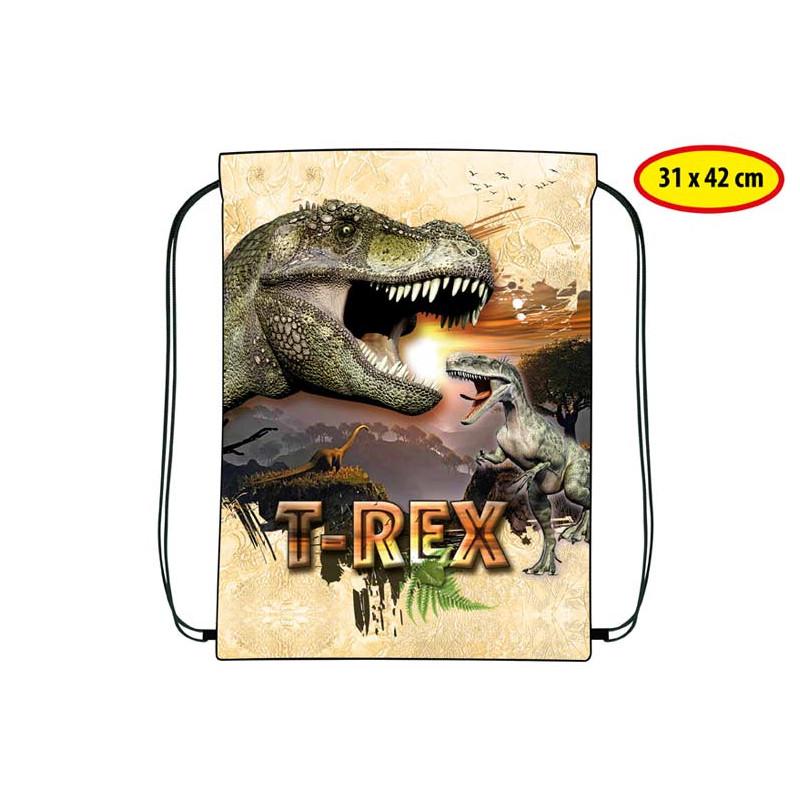 Gym Bag / Pytlík na přezůvky Dino / 31 x 42 cm