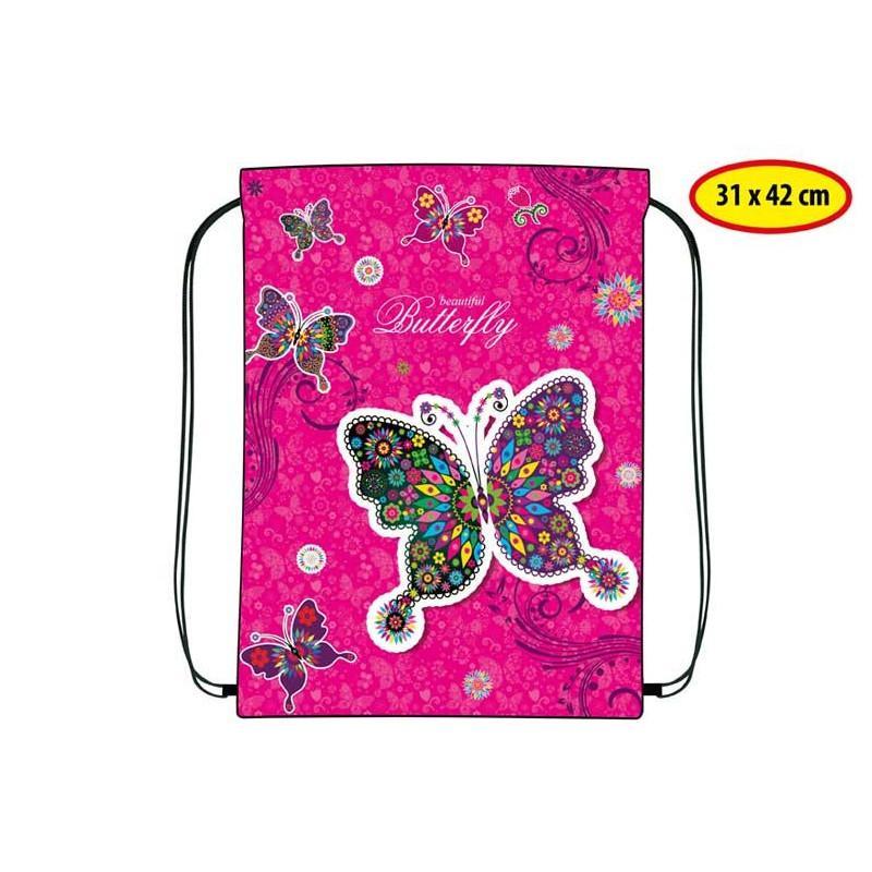 Gym Bag / Pytlík na přezůvky Motýl / 31 x 42 cm