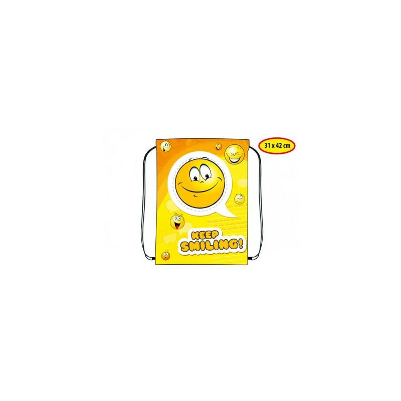 Pytlík na přezůvky Smile / 31 x 42 cm