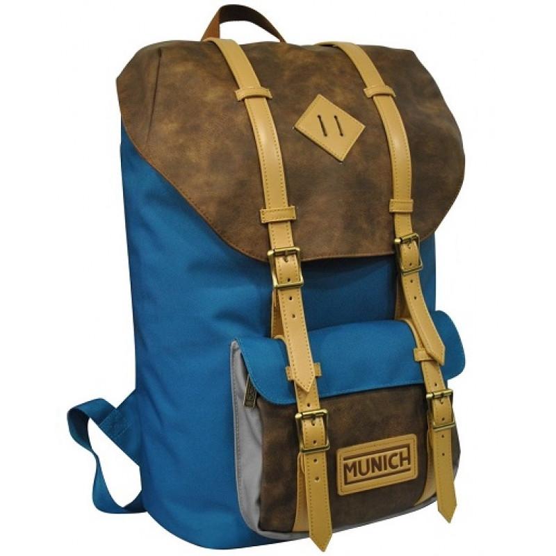 Studentský batoh Hipster / Modrý / 48 x 32 x 17 cm