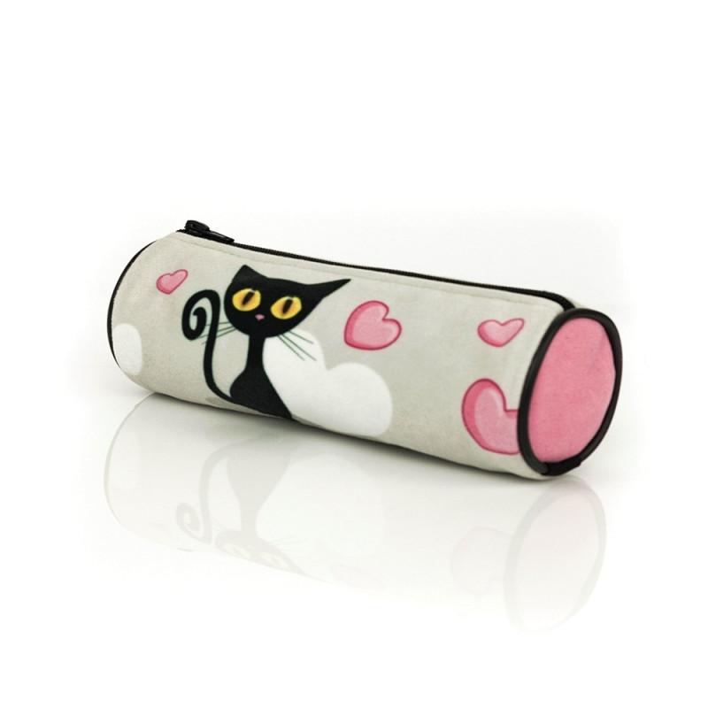 Penál / Pouzdro Black Cat / Černá kočka / 21 x 6,5 cm