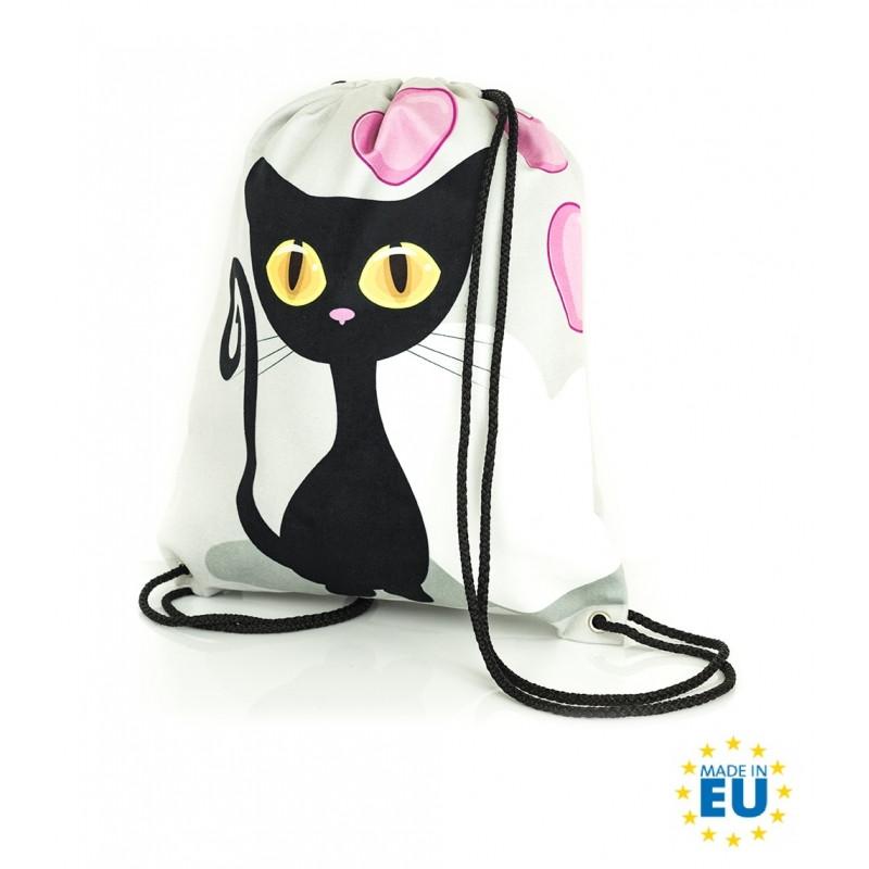 Gym Bag / Pytlík Black Cat / Černá Kočka / 30 x 45 cm
