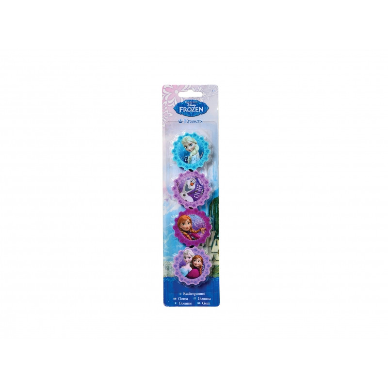 Školní dekorační guma Frozen / 4 ks v balení / veci do skoly