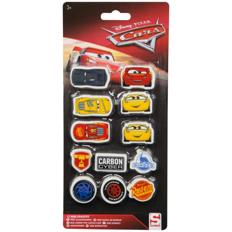 Dekorativní školní gumy Cars / 1 x 21 x 10 cm