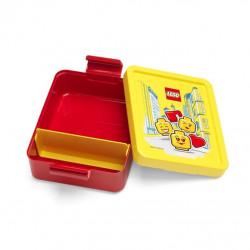 PLASTOVÁ KRABIČKA NA SVAČINU / LUNCH BOX LEGO ČERVENO / ŽLUTÁ 17 X 14 X 7 CM / veci do skoly