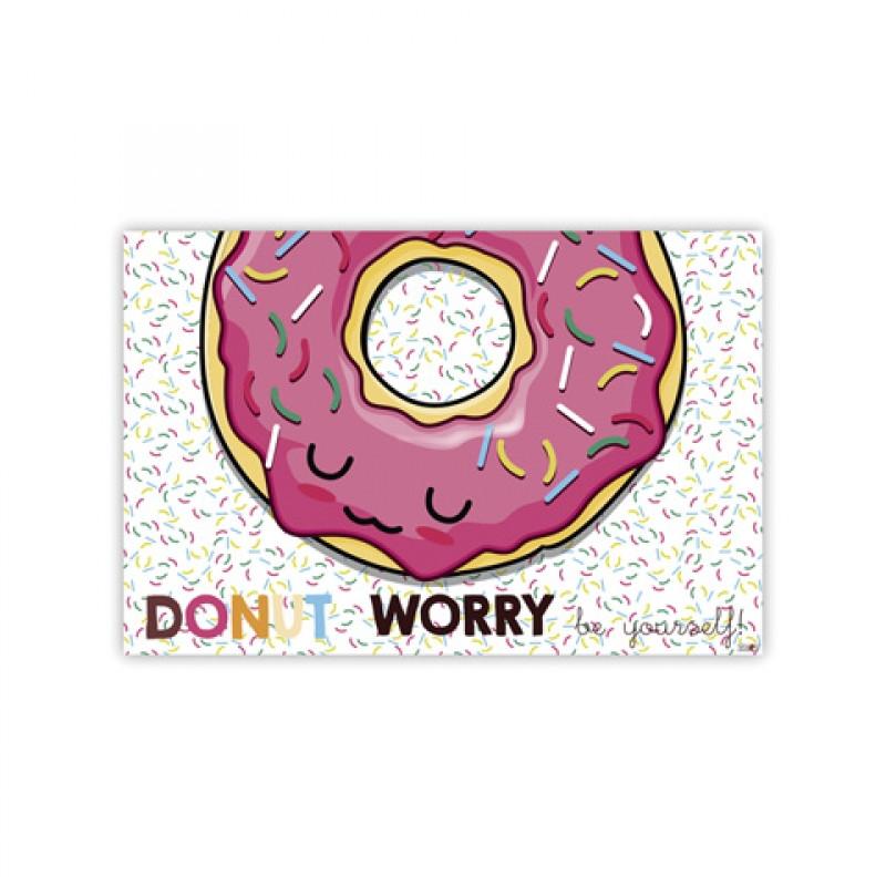 Podložka školní / jídelní Donut / 43 x 28 cm / veci do skoly