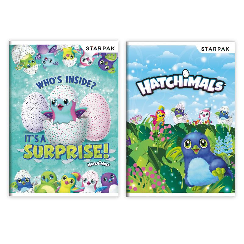 BLOK / NOTES S MOTIVEM HATCHIMALS / MODRÝ A5