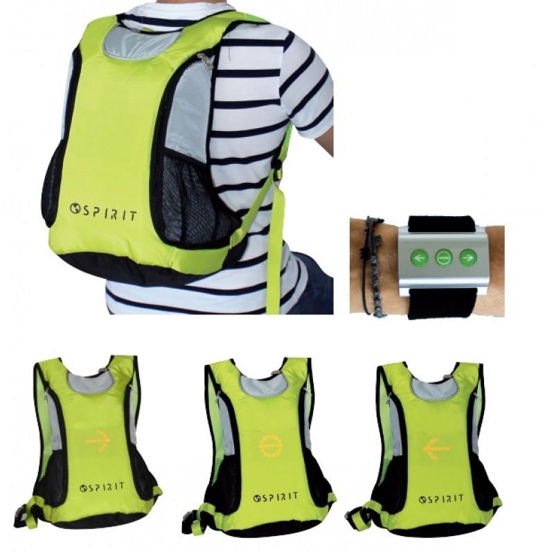 Signalizační batoh pro cyklisty Spirit Zelený / 30 x 47,5 x 14 cm