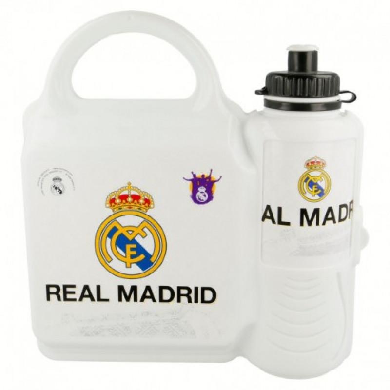 Plastová krabička na svačinu + láhev napití / Real Madrid / 400 ml