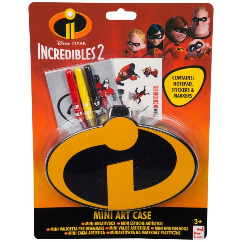 Výtvarná mini sada Incredibles / Úžasňákovi / 4 x 24 x 18 cm / veci do skoly