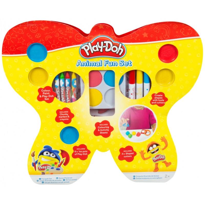 Výtvarné potřeby Play Doh / voskovky, barvy, fixy / 4 x 40 x 45 cm / veci do skoly