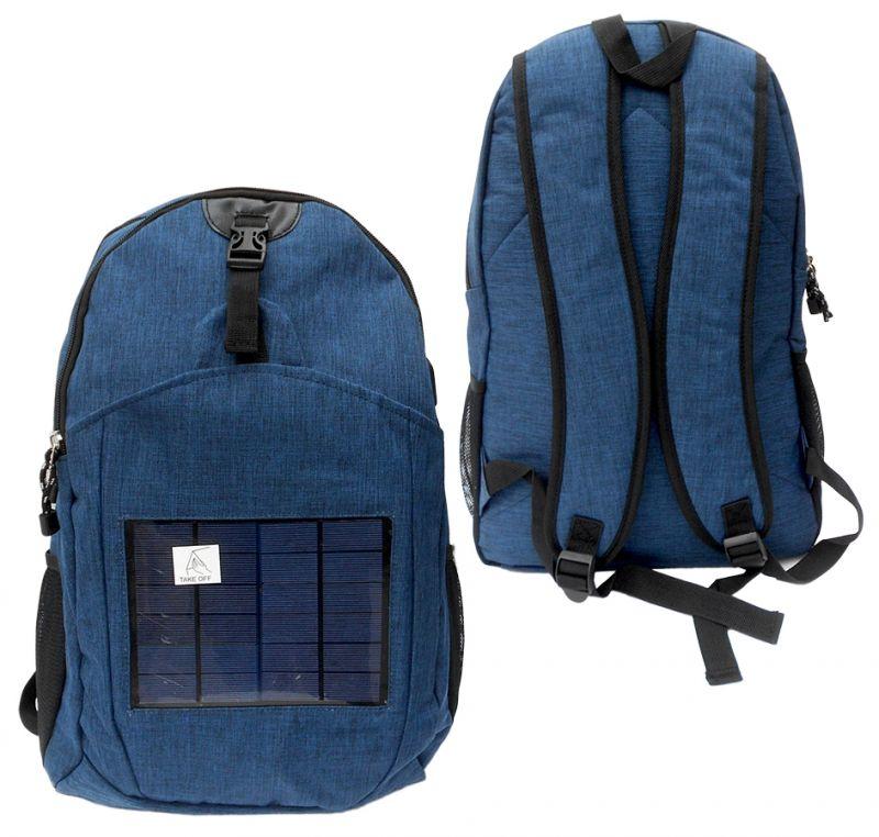 Batoh se solární nabíječkou Solar / Modrý / veci do skoly