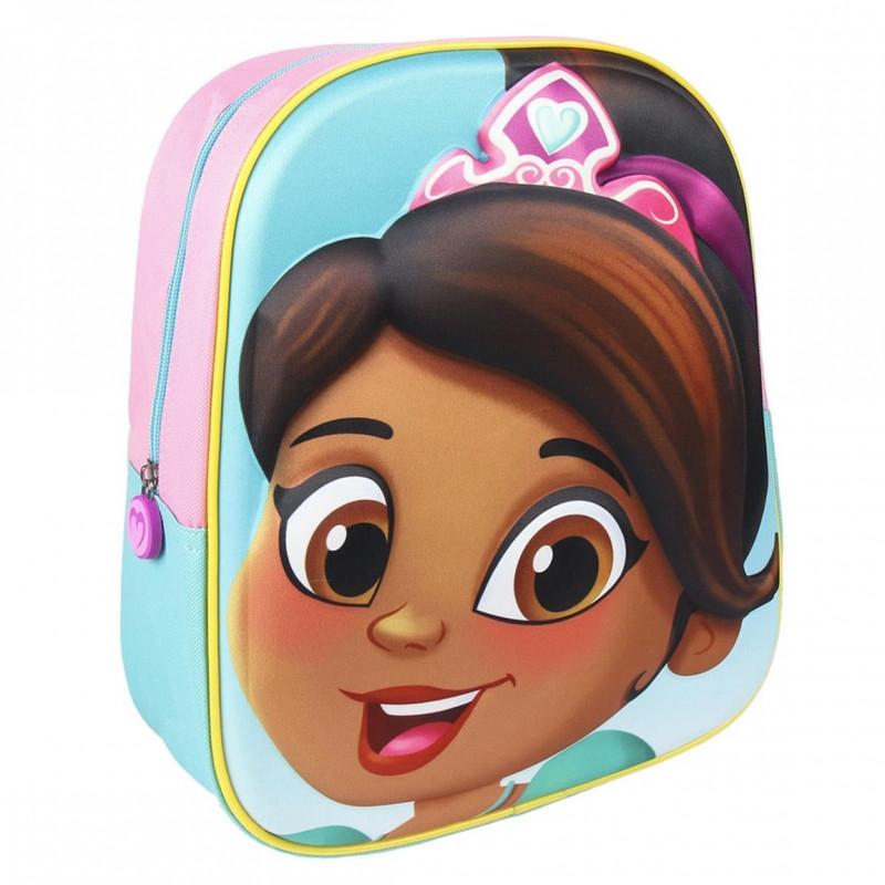 Dívčí batoh Nella 3D / 26 x 31 x 10 cm / veci do skoly