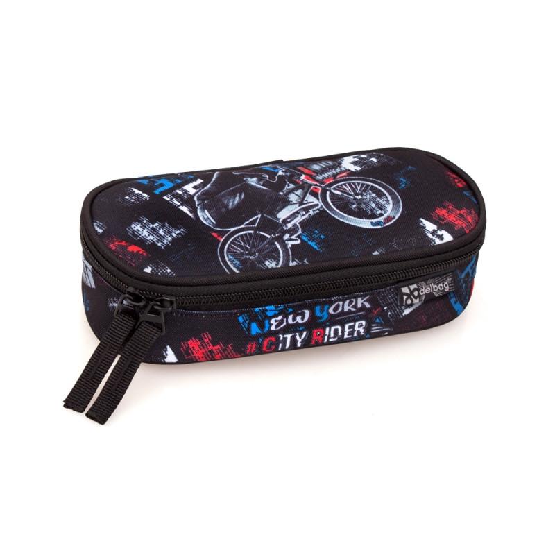 Penál / pouzdro oválné Delbag Bike / 21 x 10 cm
