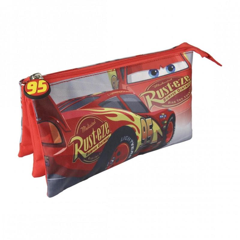 Penál / pouzdro Cars tříkomorové / 22 x 11 cm / veci do skoly